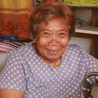 Hilaria, 84 from the Philippines, has been given a sewing machine so she can begin work again