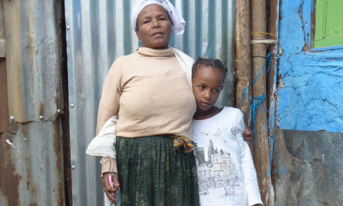 Aselefech in Ethiopia with her granddaughter
