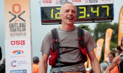 Rob Dewey completed an ironman to raise money for Age International