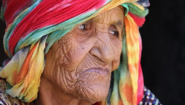 An older woman in Yemen, where millions currently face starvation