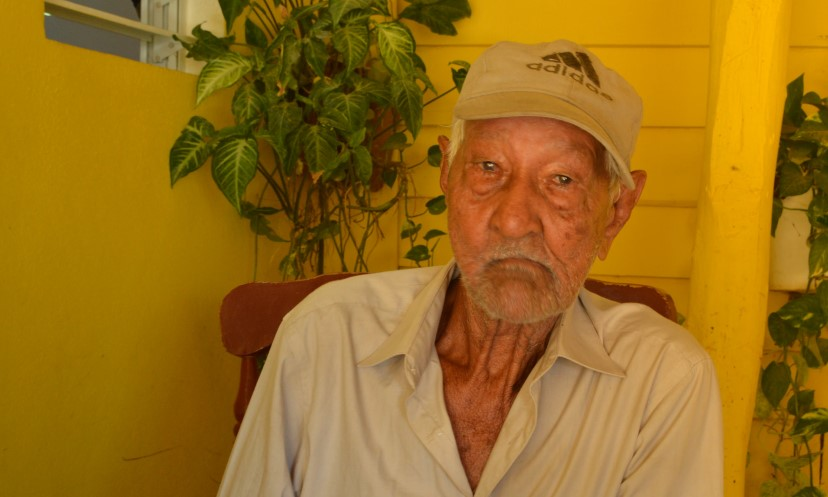 90-year-old Juan's crops are badly damaged everytime there is a hurricane