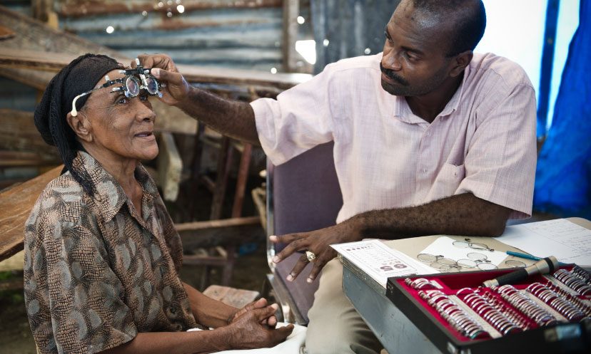 Eye care programme in Haiti