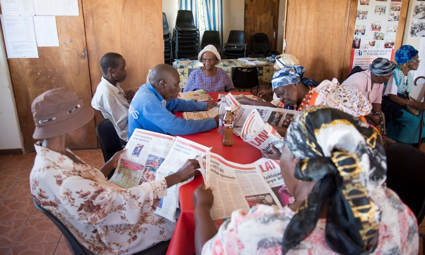 Muthande Society for the Aged is a community-based organisation providing social services, home-based care, literacy education and other services to older people through its six centres in Durban.